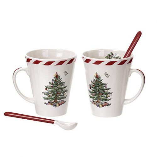 Spode Christmas Tree Peppermint Mugs - Christmas Mugs