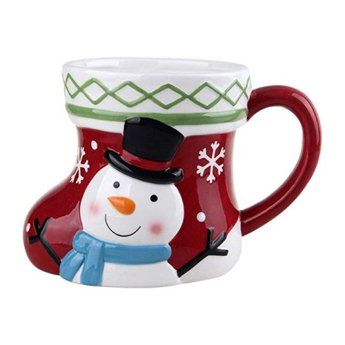 "Comfy Hour 5"" Winter Holiday Christmas Snowman Mug - Christmas Mugs"