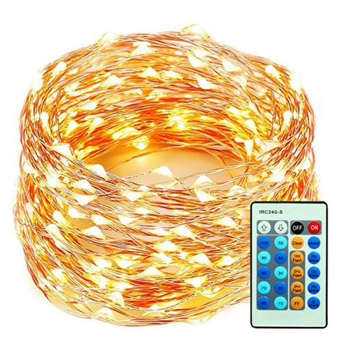 99 Feet 300 LEDs Copper Wire String Lights Dimmable - LED String Lights for Christmas