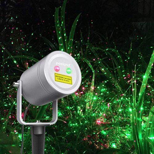 Poeland Christmas Laser Light Moving Firefly Outdoor Projector - Outdoor Laser Light for Christmas