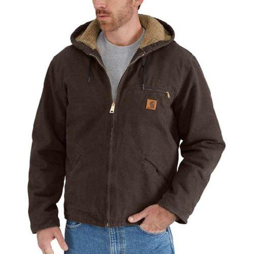 Carhartt Men's Sherpa Sierra Jacket J141 - utility jackets for men
