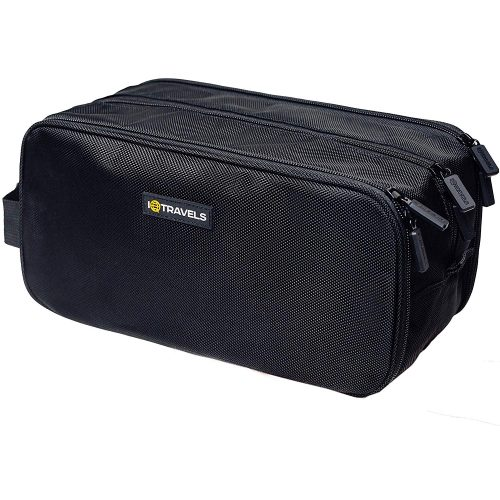 IQTRAVELS Dopp Kit (12 Inches) 3 Compartments + Waterproof Bag - Men Toiletry Bags