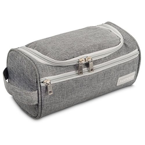 Image result for Pantheon Toiletry Organizer Wash Bag Hanging Dopp Kit Travel for Bathroom Shower - Men Toiletry Bags