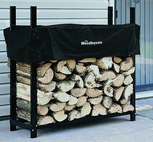 """48"""" Heavy-Duty Woodhaven Firewood Rack with Cover"""