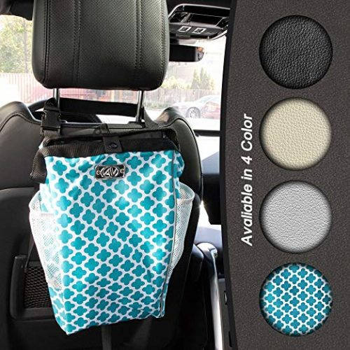 The Keep it Clean CarBage - Auto Trash Can, Auto Litter Bag, Auto Garbage Bin, Car Trash Pail, Great for Cars, Boats & RV's (Teal)