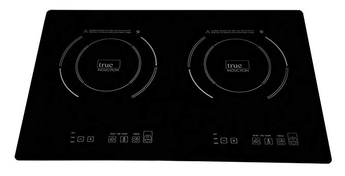 True Induction TI-2B Cooktop, Black - Gas Cooktops