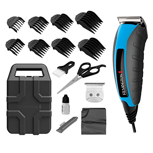 Remington Virtually Indestructible 15-Piece Clippers Kit - Hair Clippers for Men