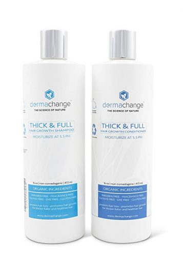 Organic Vegan Natural Hair Growth Shampoo and Conditioner Set - Hair Re-growth Product for Men
