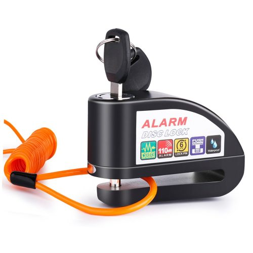 Alarm Disc Lock, Anti-theft Motorcycle Disc Brake Lock, Waterproof