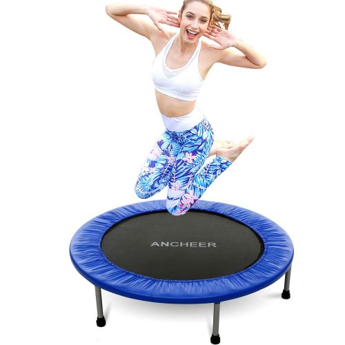 ANCHEER Mini Trampoline with Safety Pad
