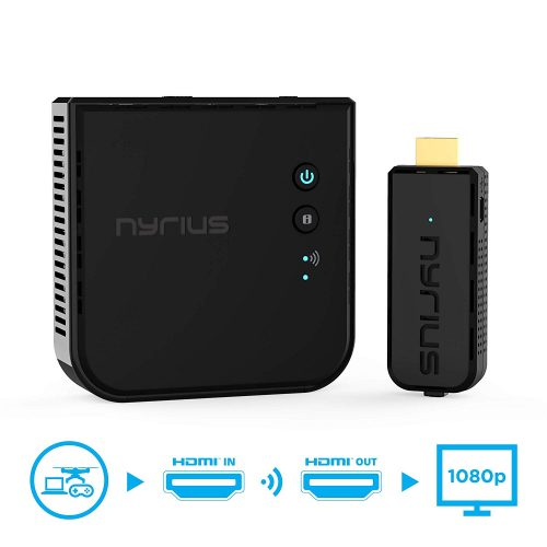 Nyrius ARIES Prime Wireless Video HDMI Transmitter & Receiver - Wireless HDMI Transmitter & Receiver