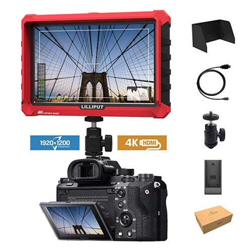 "Lilliput A7S 7"" 1920x1200 IPS Screen Camera Field Monitor 4K 1.4 HDMI Input Output Video DSLR Mirrorless Camera Sony A7S II A6500 Panasonic GH5 Canon 5D Mark IV LILLIPUT Official Seller VIVITEQ"