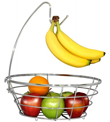 DecoBros Wire Fruit Tree Bowl with Banana Hanger