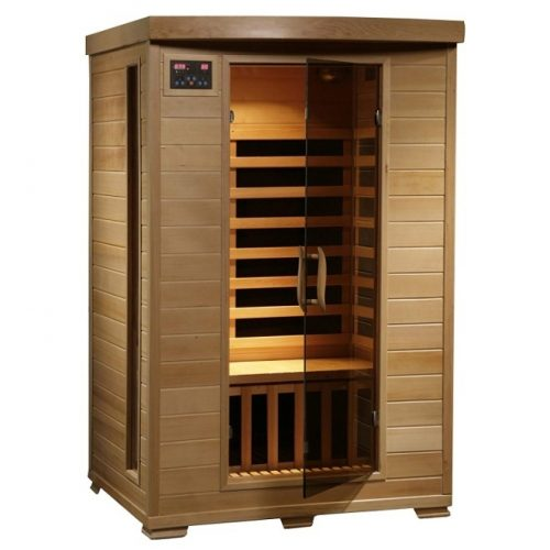 Radiant Saunas -Person Hemlock Infrared Sauna with 6 Carbon Heaters, Chromotherapy Lighting, Oxygen Ionizer