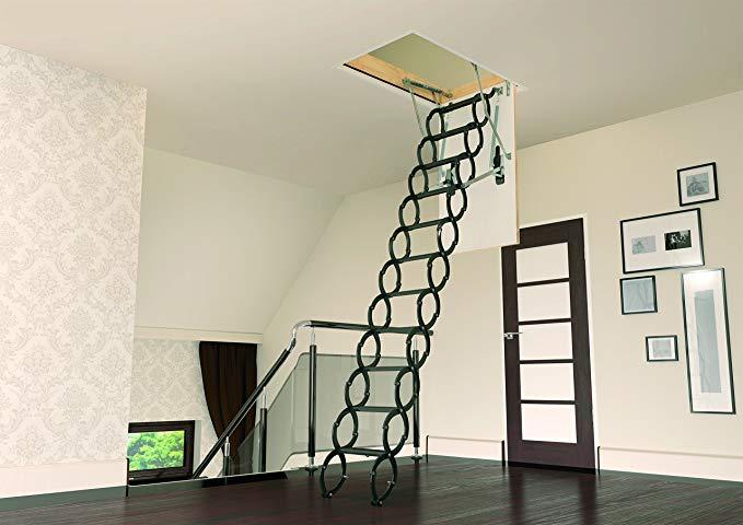 FAKRO LST 860432 Insulated Steel Scissor Attic Ladder - Attic Ladders