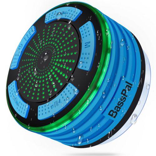 BassPal Shower Radios, IPX7 Waterproof Portable Wireless Bluetooth Speaker - Shower Speakers