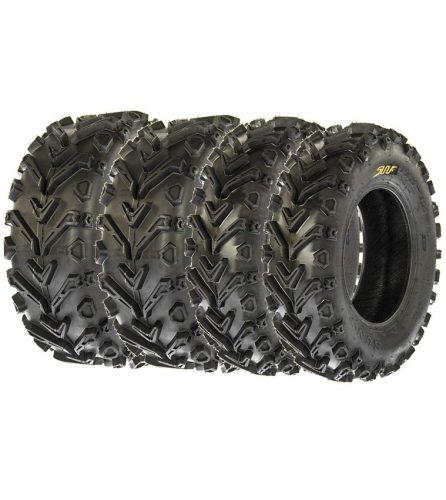 Set of 4 SunF A041 Mud & Trail 25x8-12 Front & 25x10-12 Rear ATV UTV off road Tires, 6 PR, Tubeless