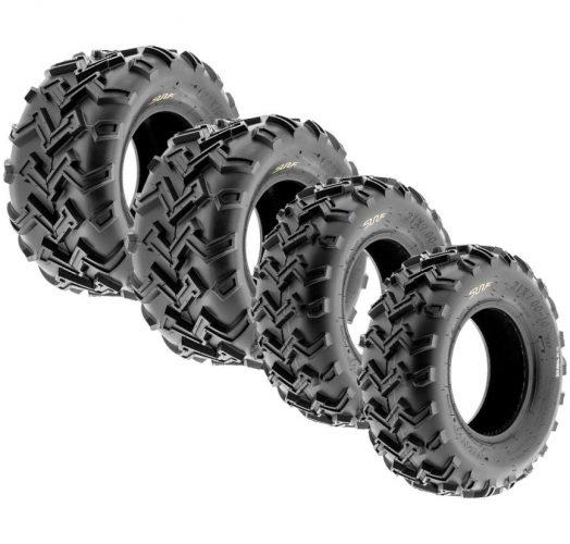 SunF A001 Off-Road ATV/UTV Tire 21x7-10 Front & 22x10-10 Rear, 6 PR, Directional Tread (Full Set of 4)