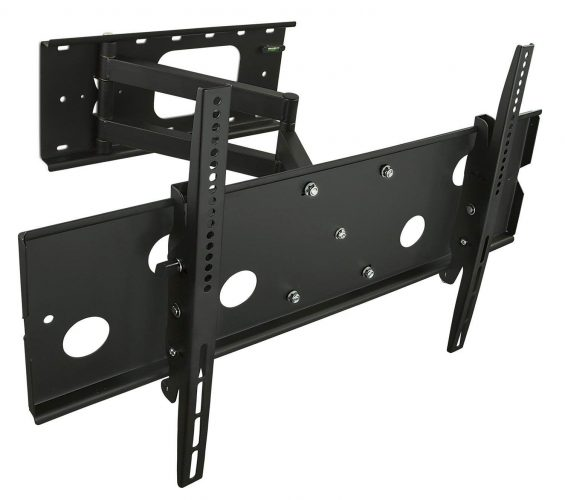 Mount-It! TV Wall Mount Swing Out Full Motion Design - Corner TV Wall Mounts
