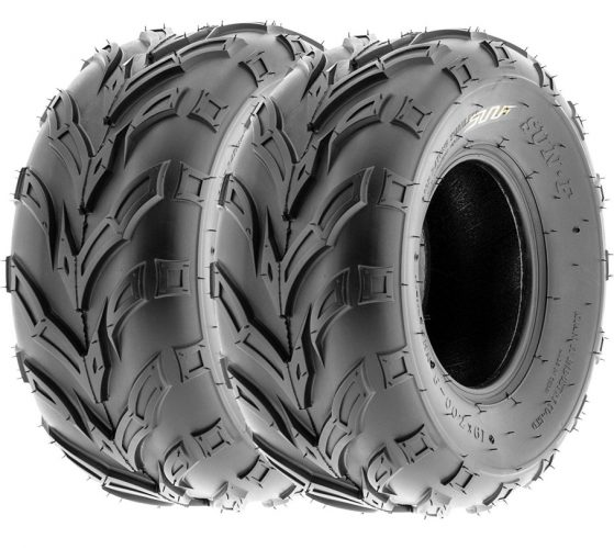 Pair of 2 SunF A004 ATV UTV 23x7-10 AT off-road Tires, Trail & Track, 6 PR, Tubeless