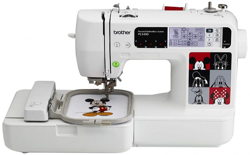 Brother PE540D 4x4 Embroidery Machine with 70 Built-in Decorative Designs, 35 Disney Designs, 5 Fonts