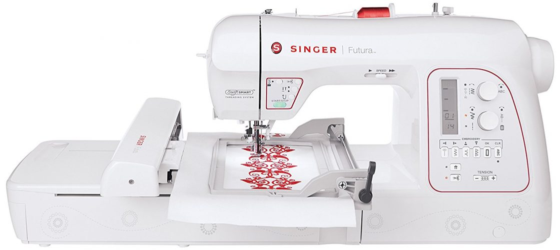 Singer | Futura XL-580 Embroidery and Sewing Machine including 250 Embroidery Designs, 215 Built-in Sewing Stitches, Automatic Thread Cutter, perfect for sewing all types of fabrics with ease
