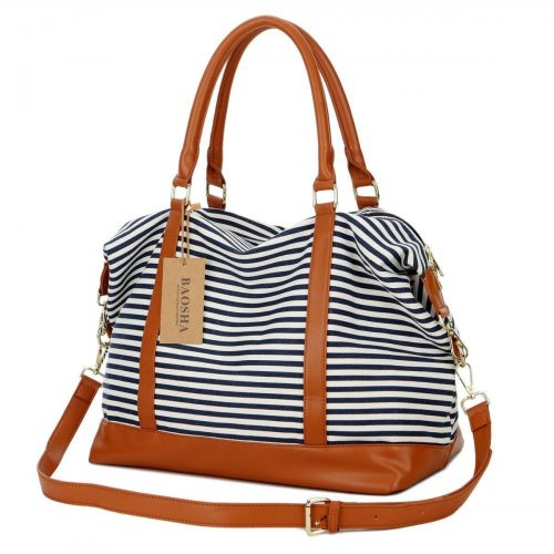 BAOSHA Canvas Travel Weekender Shoulder Duffel Tote Bag - Weekender Bags For Women