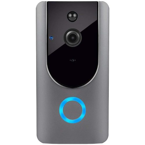 Smart Wireless WiFi Video Doorbell HD Security Camera with PIR Motion Detection Night Vision Two-Way Talk and Real-time Video Suitable for iPhone Samsung LG Sony Nokia etc … (Silver)