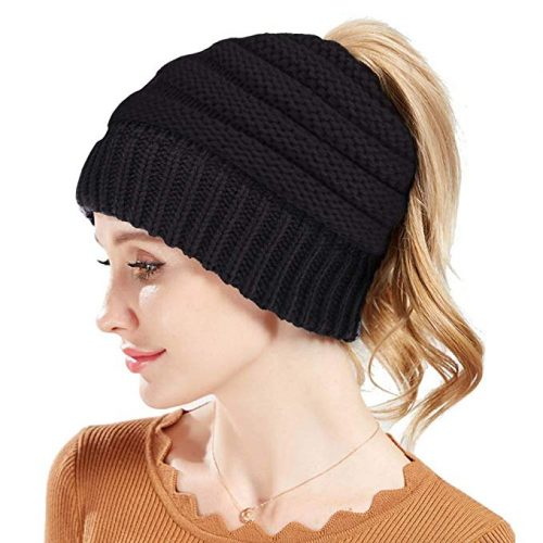 cbb511a7efb53 Rosoz Winter Ponytail Beanie for Women