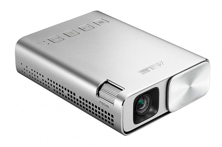 ASUS ZenBeam E1 Pocket LED Projector, 150 Lumens, 6000mAh Battery, 5-hour Projection, Power Bank, Auto Keystone Correction, HDMI/MHL
