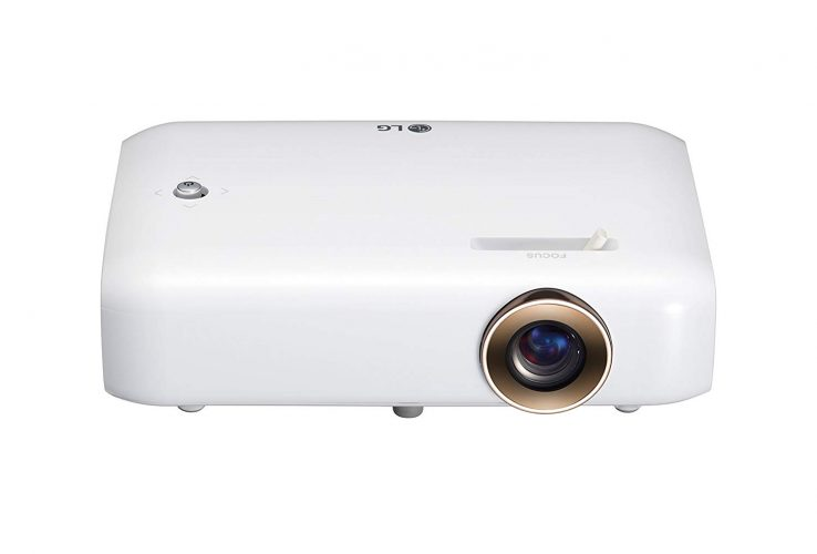 LG Electronics PH550 Minibeam Projector with Bluetooth Sound, Screen Share and Built-in Battery (2016 Model)