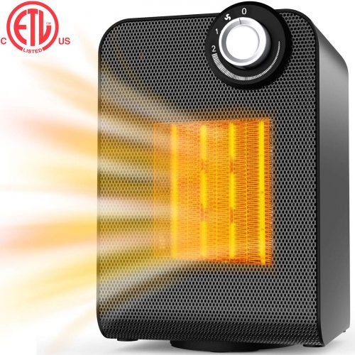 Electric Heater, Space Heater for Indoor Use, Portable Ceramic Heater, 1500W/750W Safe Oscillating Heater with Adjustable Thermostat, Tip-over & Overheating Protection for Home, Office, Small Room