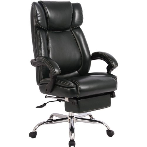 MeraxInno Series Executive High Back Napping Chair with Adjustable Pivoting Lumbar and Padded Footrest for Home and Office (Black)