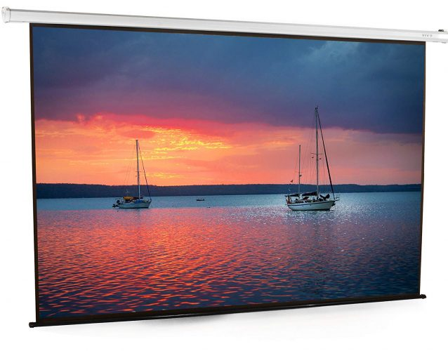"VIVO 100"" Electric Motorized Projector Screen 100 inch Diagonal Auto with Remote 4:3 Projection HD (PS-E-100E)"