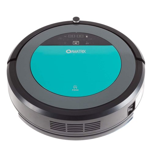 Amatrix Cleaner V600 Dual Vacuuming and Mopping Cleaning Robot, Black