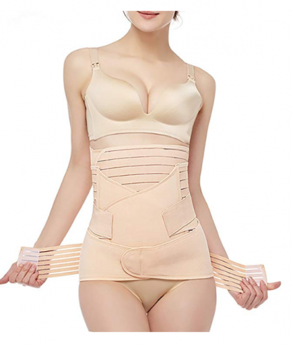 Geometry 3 In 1 Postpartum Support - Recovery Belly Wrap Girdle Support Band Belt Body Shaper