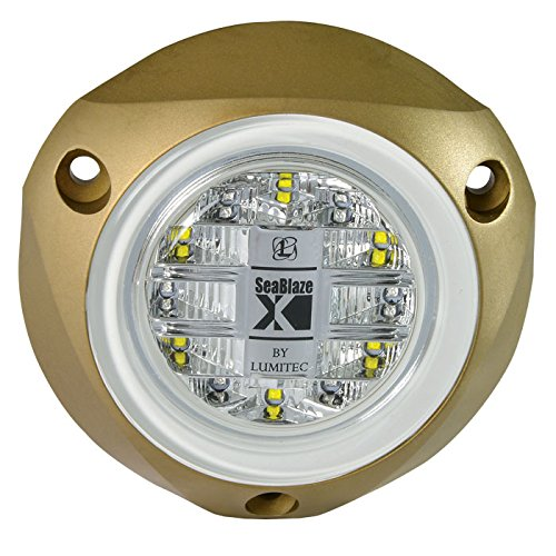 LumitecSeaBlazeX LED Underwater Boat Light, Surface Mount, Strobe, Cross Fade