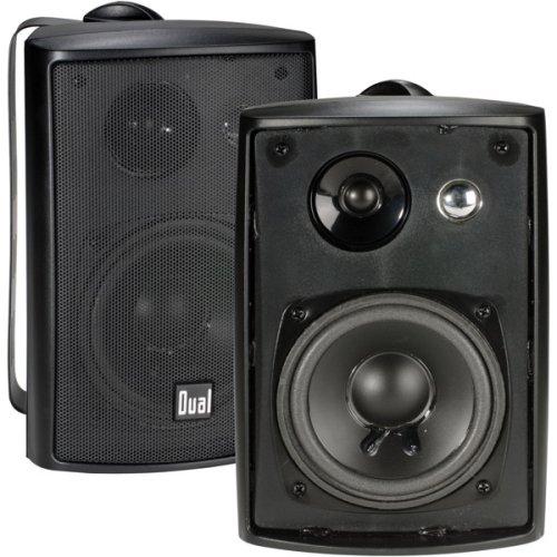 Dual Electronics LU43PB 4 inch 3-Way High-Performance Indoor, Outdoor & Bookshelf Studio Monitor Speakers with Swivel Brackets & 100 Watts Peak Power (Sold in Pairs)