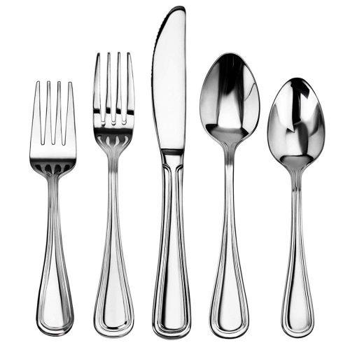 New Star Foodservice 58871 Slimline Pattern, Stainless Steel, 60-Piece Flatware Set