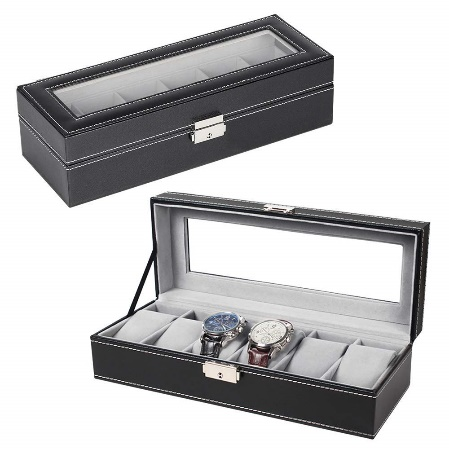 NEX 6 (Six) Slot Leather Watch Box