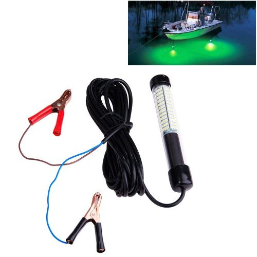 Lightingsky 12V 10.8W 180 LEDs 1080 Lumens LED Submersible Fishing Light Underwater Fish Finder Lamp 5m Cord