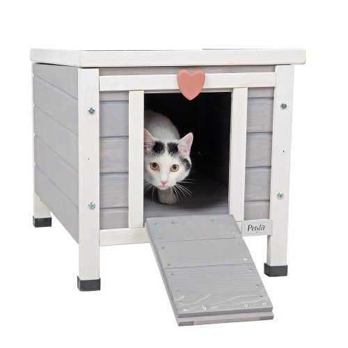 Petsfit Pet Cage, Rabbit Hutch, Outdoor Cat Shelter