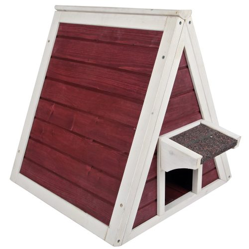 Petsfit Outdoor/Indoor Cat Shelter Feral Cat, Wooden Cat House Eave, Cat Condo Multi Colors Available