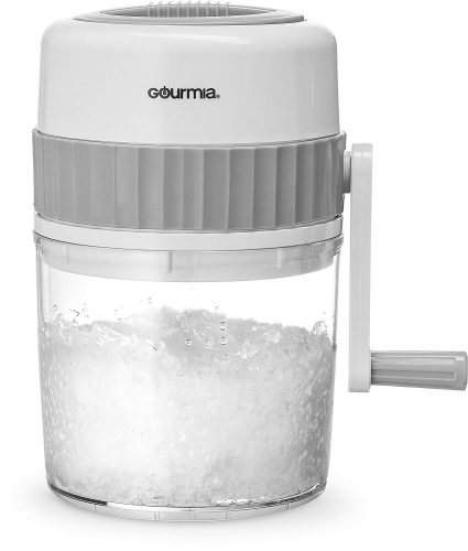 Gourmia GIC9635 Ice Shaver – Manual Hand Crank Operated Ice Breaker with Stainless Steel Blades for Fast Crushing – BPA Free