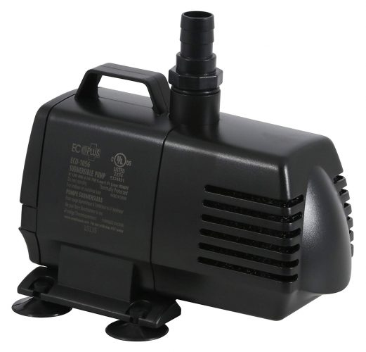 EcoPlus 1056 GPH (3785 LPH, 70W) Submersible Water Pump w/ 15 feet Power Cord | Aquarium, Fish Tank, Fountain, Pond, Hydroponics