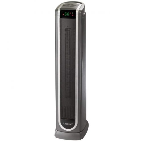Lasko 751320 Ceramic Tower Space Heater with Remote Control - Features Built-in Timer and Oscillation