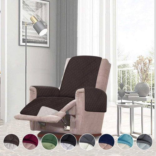 RHF Reversible Oversized Recliner Cover&Oversized Recliner Chair Covers, Slipcovers for Recliner, Oversized Chair Covers, Pet Cover for Recliner, Machine Washable (XRecliner: Huntergreen/Sage)