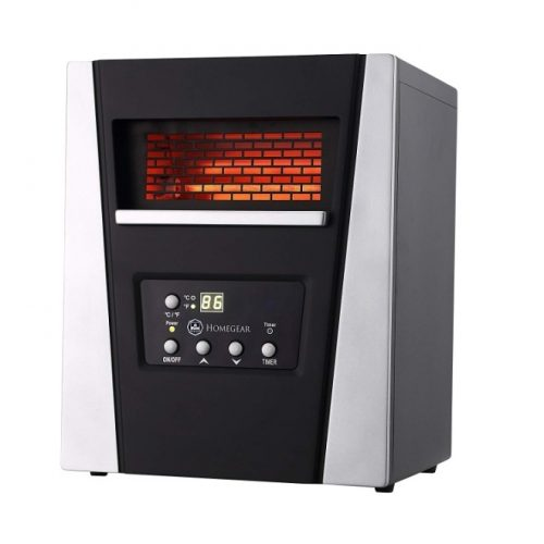 Homegear 1500W Infrared Electric Portable Space Heater Black + Remote Contro