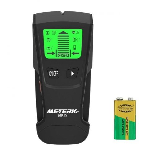 Meterk Stud Sensor with Large LCD Display, Stud Finder Wood Studs Center Finder Multi-Wall Detector For Metal, AC Live Wire, Wood Finder with Warning