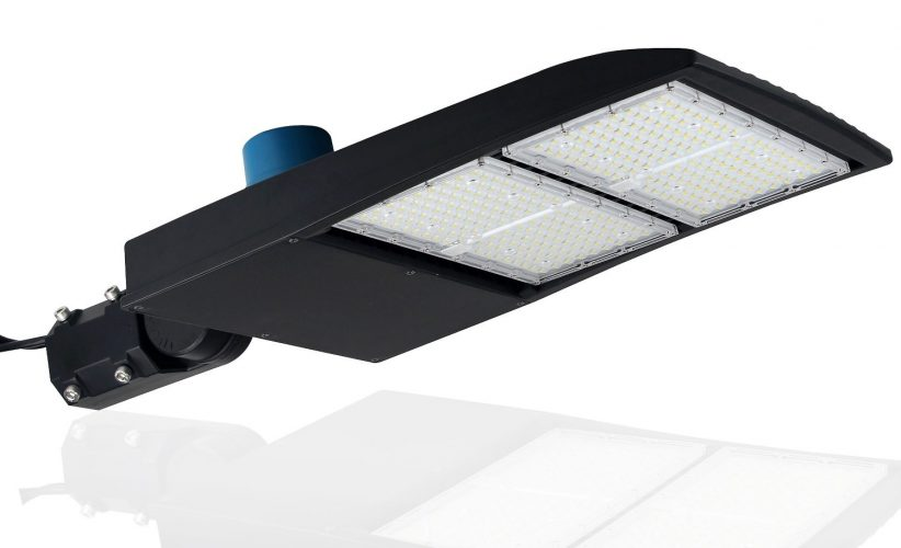300 Watt NextGen II LED Parking Lot Lights - 40,500 Lumen - Super Efficiency 135 Lumen to Watt - 5000K Bright White - Replaces 1000W Halide - LED Shoebox Lights - Slip Fit Mount - With photocell